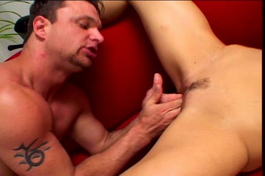 Lesbian blonde bent over fingering ass
